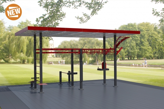 Training Fit com Pérgola